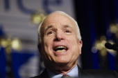 Presidential candidate Sen John McCain RAriz speaks to the Conservative Political Action Conference two hours after former Massachusetts Gov Mitt...