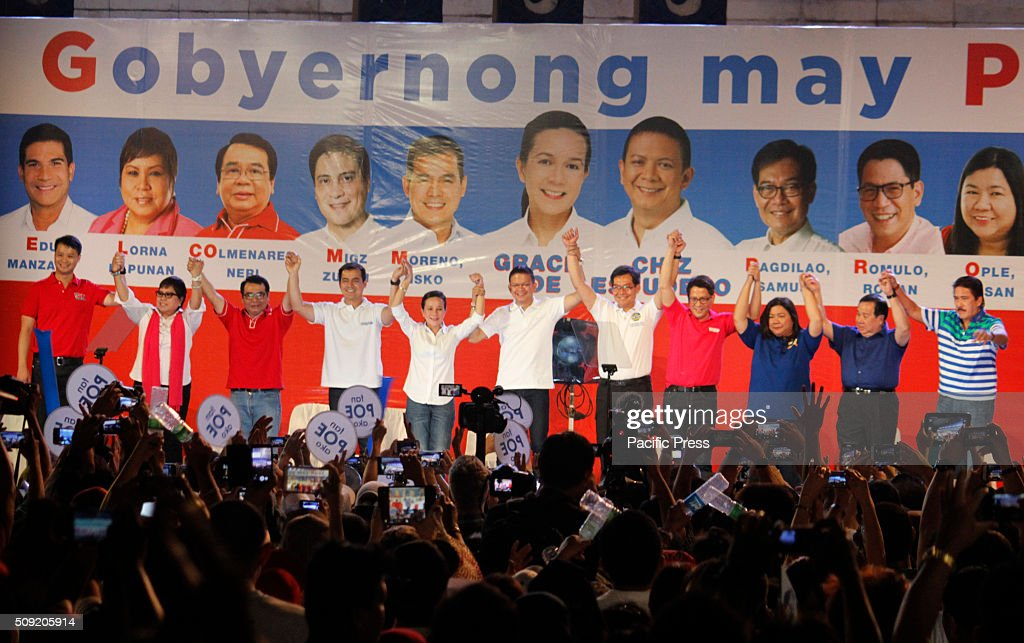Presidential candidate Senator Grace Poe and her team launch their election campaign at Plaza Miranda in Manila. Senator Poe maintained her lead in the presidential race despite issues on citizenship. On the latest survey by Laylo, Poe got 29% followed by Vice President Jejomar Binay and former Interior and Local Government Secretary Mar Roxas which tied in the second place with 22%. The survey came as the campaign period officially starts today.