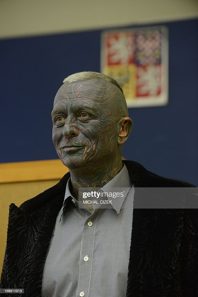 Presidential candidate Vladimir Franz is seen at a polling station in Prague, Czech on January 11, 2013. The first Czech direct presidential election will be held on January 11-12, 2013.