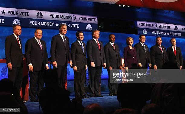 Presidential candidates Ohio Governor John Kasich Mike Huckabee Jeb Bush Sen Marco Rubio Donald Trump Ben Carson Carly Fiorina Ted Cruz New Jersey...