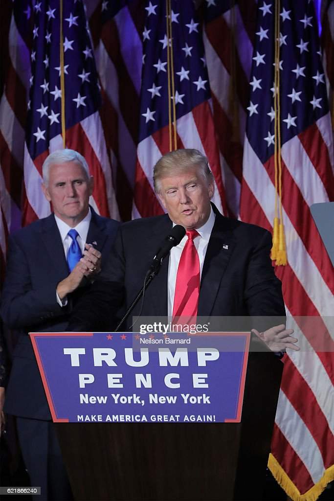 Donald Trump Holds Election Night Event In New York City