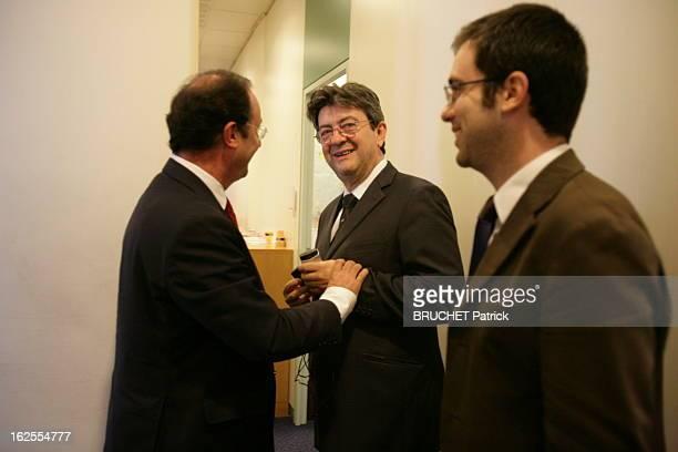 The Second Round Paris 6 mai 2007 Deuxième tour des élections présidentielles L'attente des résultats au PS François HOLLANDE JeanLuc MELENCHON