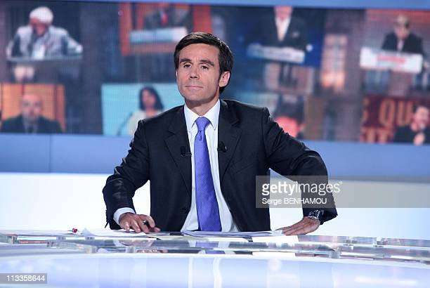 '2007 Presidential Election' On France2 Et France3 In Paris France On April 22 2007 David Pujadas