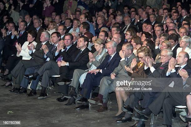 Meeting Of Jacques Chirac At Villepinte En France à Villepinte le 2 mai 2002 Dernier meeting de Jacques CHIRAC avant le deuxième tour du scrutin des...