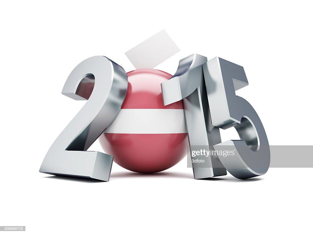 As eleições presidenciais na Letónia 2015 sobre um fundo branco : Foto de stock