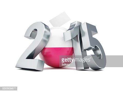 presidential elections in Poland 2015 on a white background : Stock Photo