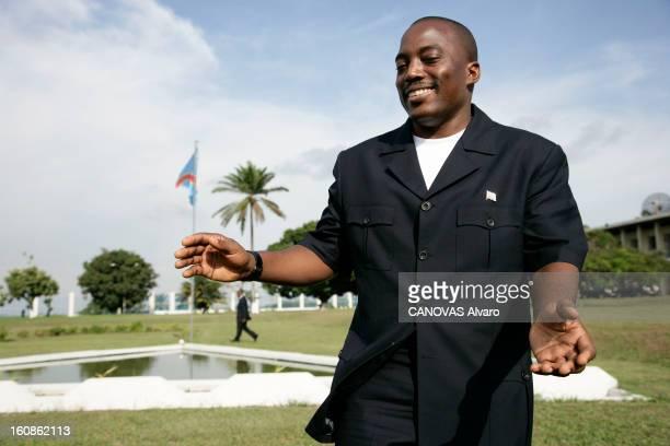 Presidential Elections In The Democratic Republic Of Congo Le président Joseph KABILA pose dans les jardins du palais de la Nation à Kinshasa deux...