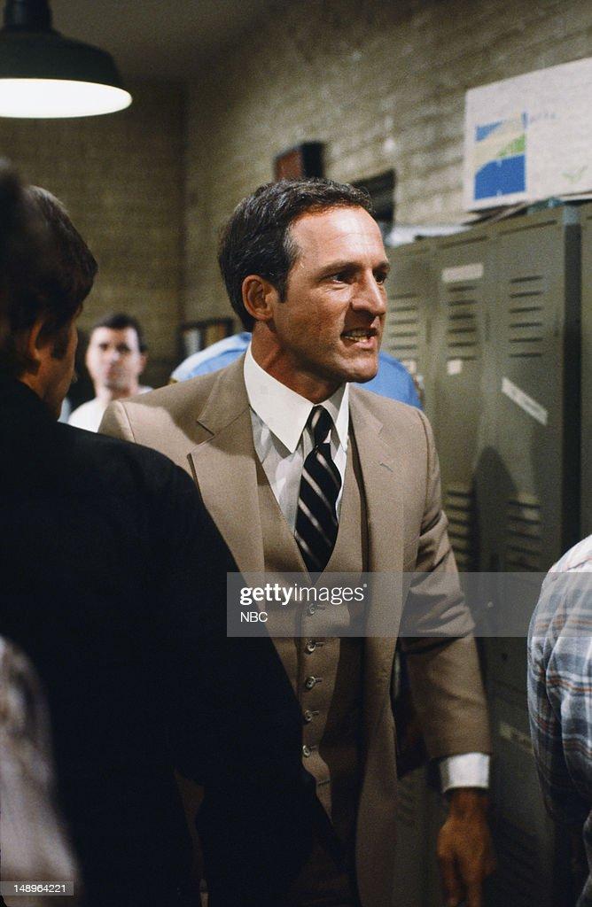 BLUES -- 'Presidential Fever' Episode 102 -- Pictured: (l-r) Daniel J. Travanti as Captain Frank Furillo --
