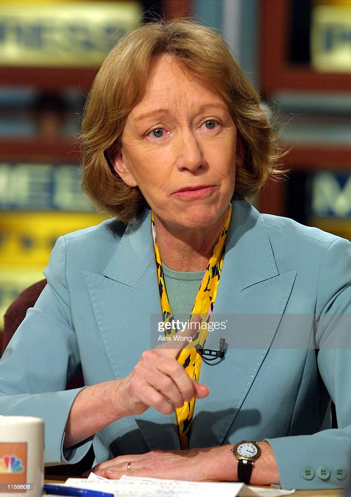 Presidential Historian Doris Kearns Goodwin speaks during a taping of NBC's ''Meet the Press'' April 29, 2001 at the NBC studios in Washington, D. C.