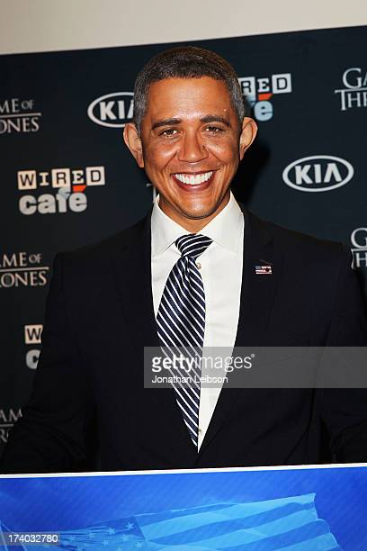 Presidential impersonator Reggie Brown attends day 2 of the WIRED Cafe at ComicCon on July 19 2013 in San Diego California
