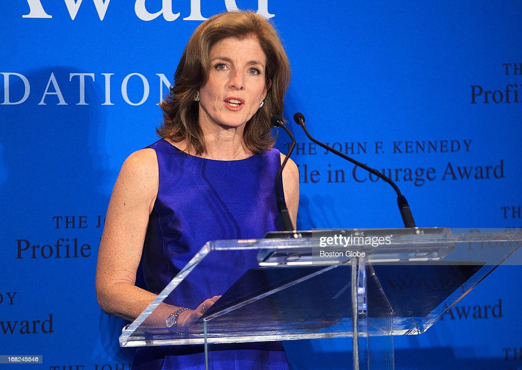 JFK Presidential Library - Caroline Kennedy, President of the Kennedy Library Foundation, honored former Arizona Congresswoman and co-founder of Americans for Responsible Solutions Gabrielle Giffords, not pictured, with the 2013 John F. Kennedy Profile in Courage Award on May 5, 2013, at the JFK Presidential Library. Giffords was accompanied by her husband, Captain Mark Kelly (US Navy - Ret.), co-founder of Americans for Responsible Solutions. The JFK Profile in Courage Award is presented annually to public servants who have made courageous decisions of conscience without regard for the personal or professional consequences.