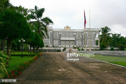 Presidential Palace in Vientiane : Stock Photo