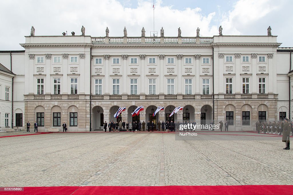 Presidential Palace in Warsaw Poland 22 April 2016