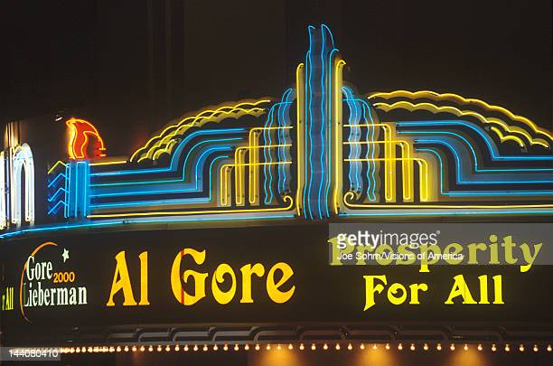Presidential rally for Gore/Lieberman on October 31st of 2000 in Westwood Village Los Angeles California