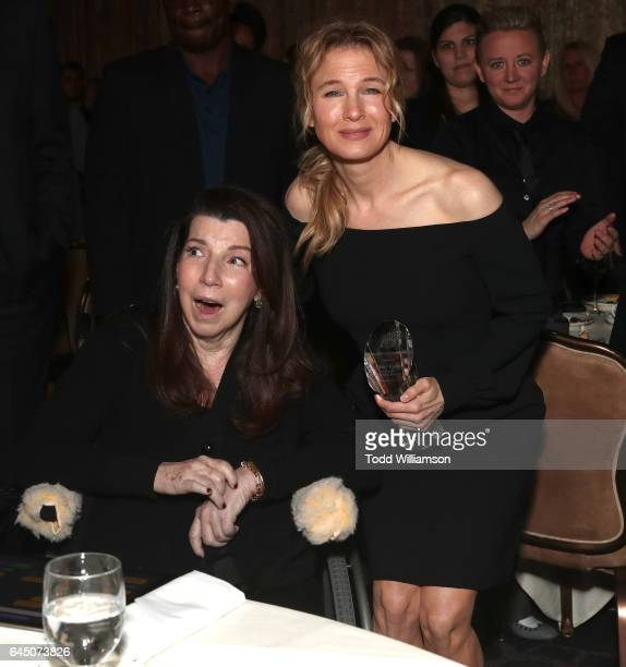 President's Award honoree Nanci Ryder and Renee Zellweger attend the 54th Annual International Cinematographers Guild Publicists Awards at The...