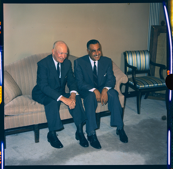 Image result for photo of gamal abdel nasser and president Eisenhower
