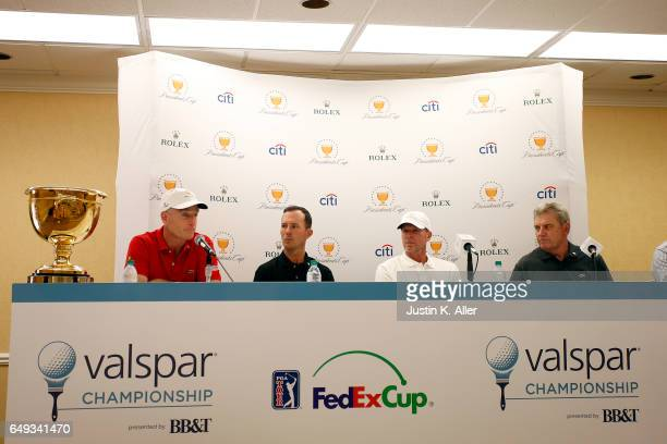 Presidents Cup Captains Nick Price and Steve Stricker announce fourth assistant captains Jim Furyk and Mike Weir at Innisbrook Copperhead Course on...