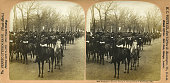 President's Escort Troop A inauguration of William McKinley Washington DC March 4th 1901 Stereophoto H C White CO N Bennington VT 1901