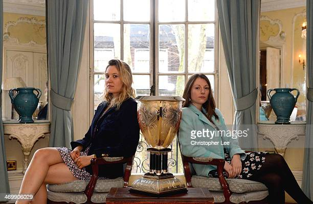President's Maxie Scheske of Oxford University Womens Boat Club and Esther Momcilovic of Cambridge University Women's Boat Club pose with the new...