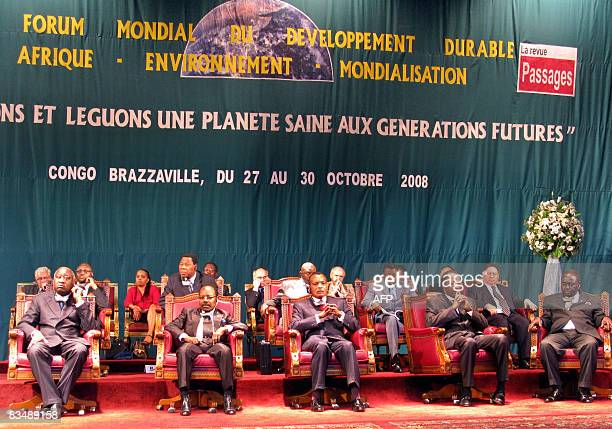 Presidents of Ivory Coast Laurent Gbagbo Gabon Omar Bongo Ondimba Congo Brazzaville David Sassou Nguesso Burkina Faso Blaise Compaore and Central...