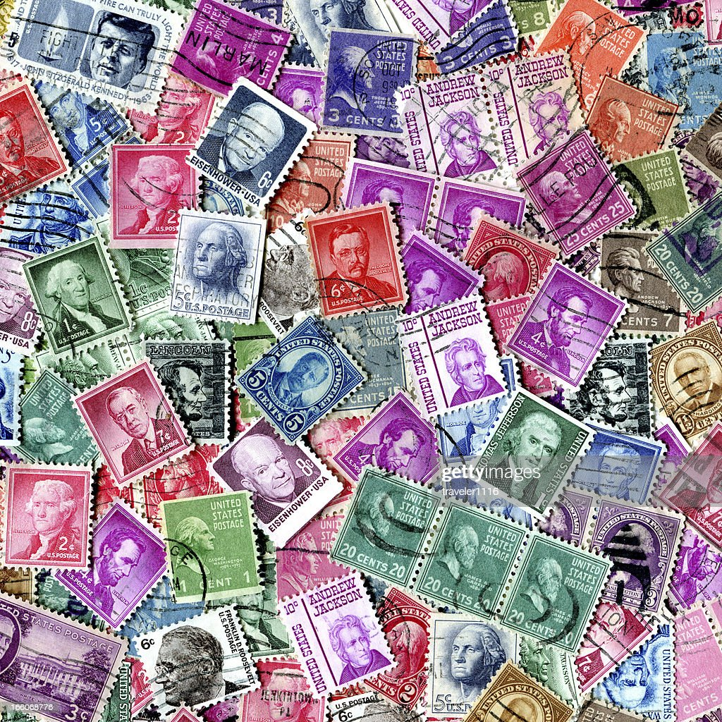 Presidents Of The USA Stamp Background XXXL