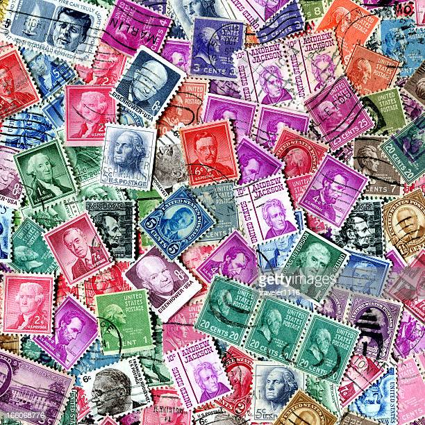Presidents Of The USA Stamp Background XXXL