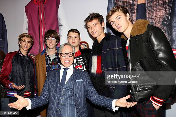 Presley Gerbe Gabriel Kane Lewis Tommy Hilfiger Rafferty Law Julian Ocleppo and Lucky Blue Smith attend Hilfiger Edition Fall2017 Presentation on...