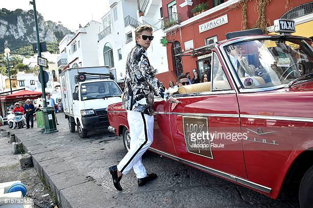 Presley Gerber is seen on the set of the DolceGabbana Summer 2017 #DGMillennials Advertising Campaign on October 20 2016 in Capri Italy