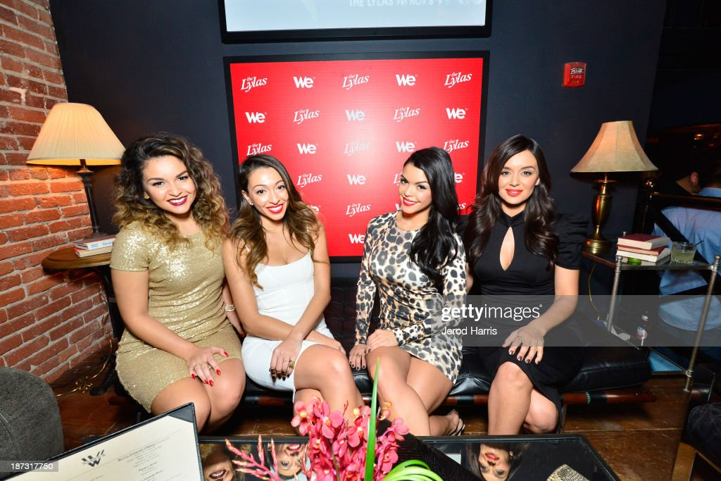 Presley Hernandez, Tiara Hernandez, Tahiti Hernandez, and Jaime Kailani of The Lylas are seen at WE tv's Celebration for The Premiere Of It's Newest Series 'The LYLAS' at the Warwick on November 7, 2013 in Hollywood, California.