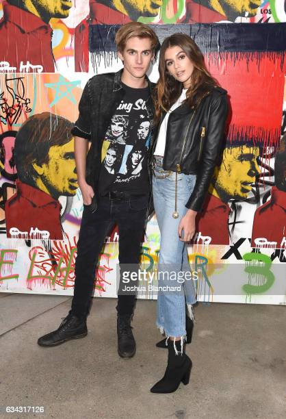 Presley Walker Gerber and Kaia Jordan Gerber at the TommyLand Tommy Hilfiger Spring 2017 Fashion Show on February 8 2017 in Venice California