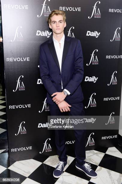 Presley Walker Gerber attends The Daily Front Row and REVOLVE FLA after party at Mr Chow hosted by Mert Alas on April 2 2017 in Los Angeles California