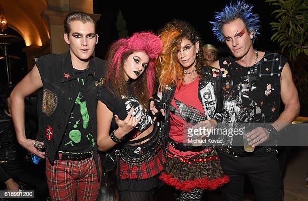 Presley Walker Gerber Kaia Jordan Gerber model Cindy Crawford and Casamigos cofounder Rande Gerber attend the Casamigos Halloween Party at a private...