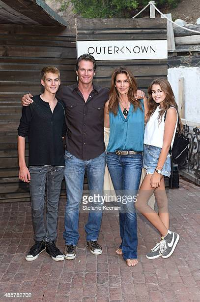 Presley Walker Gerber Rande Gerber Cindy Crawford and Kaia Jordan Gerber attend Kelly Slater John Moore and Friends Celebrate the Launch of...