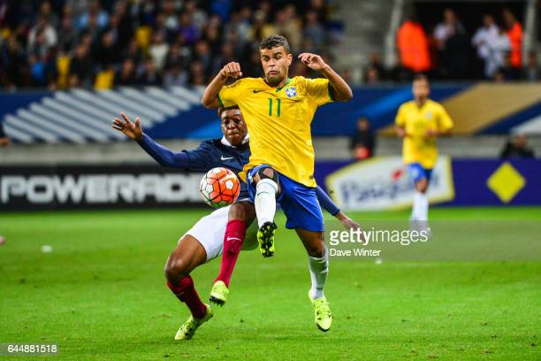 ALISSON / Presnel KIMPEMBE France / Bresil Espoirs Match amical 2015 Photo Dave Winter / Icon Sport