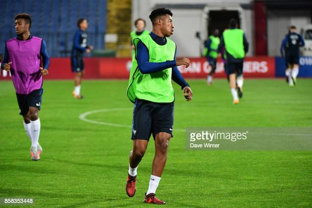 Presnel Kimpembe of France during the training session of the France football team ahead the World Cup qualifying match against Bulgaria on October 6...