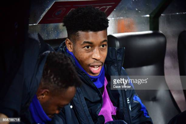 Presnel Kimpembe of France on the bench during the Fifa 2018 World Cup qualifying match between Bulgaria and France on October 7 2017 in Sofia...