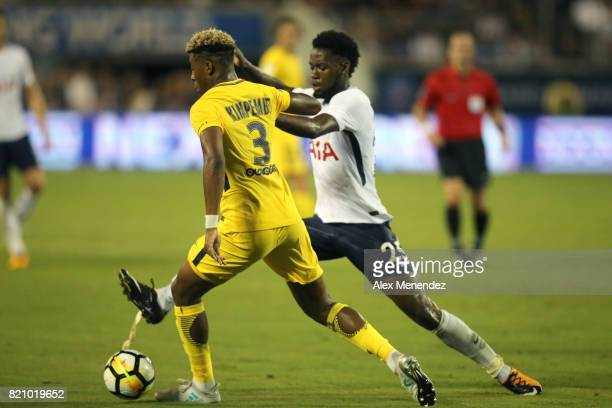 Presnel Kimpembe of Paris SaintGermain and Joshua Onomah of Tottenham Hotspur fight for the ball during the International Champions Cup 2017 match...