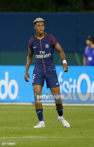 Presnel Kimpembe of Paris SaintGermain during the second half of a match against AS Roma at Comerica Park on July 19 2017 in Detroit Michigan