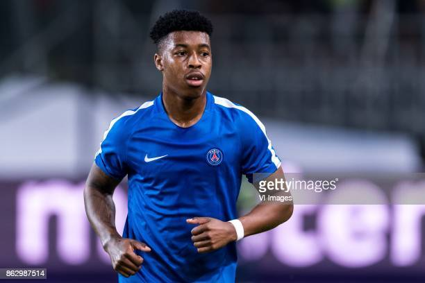 Presnel Kimpembe of Paris SaintGermain during the UEFA Champions League group B match between RSC Anderlecht and Paris Saint Germain on October 18...