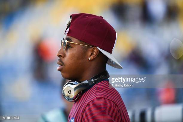 Presnel Kimpembe of PSG during the Champions Trophy match between Monaco and Paris Saint Germain at Stade IbnBatouta on July 29 2017 in Tanger Morocco