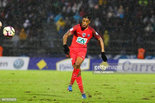 Presnel Kimpembe of PSG during the French Cup match between Niort and Paris Saint Germain on March 1 2017 in Niort France