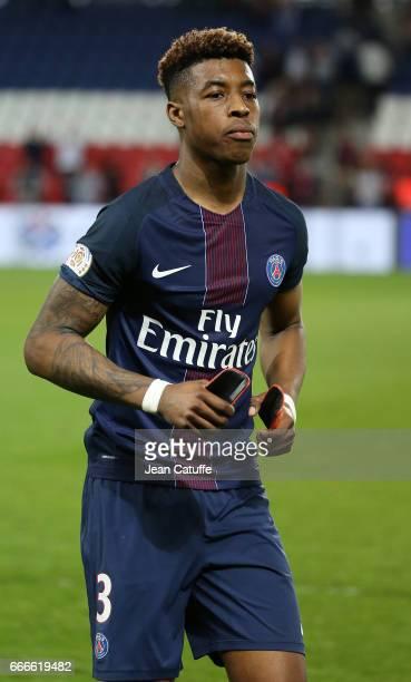 Presnel Kimpembe of PSG following the French Ligue 1 match between Paris SaintGermain and En Avant Guingamp at Parc des Princes on April 9 2017 in...