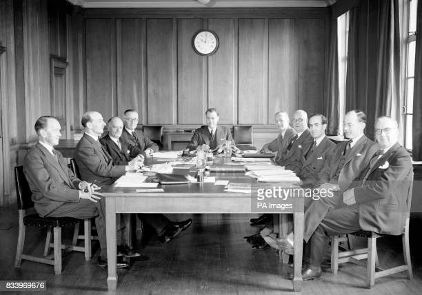 Left to right CT Barton Frank Webber Harold R Irvine R J Lewis W A Hawkins E W Davis H Martin F J Harvey L P Scott J H Walker