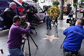 Flowers Placed In Remembrance On The Hollywood Walk Of...