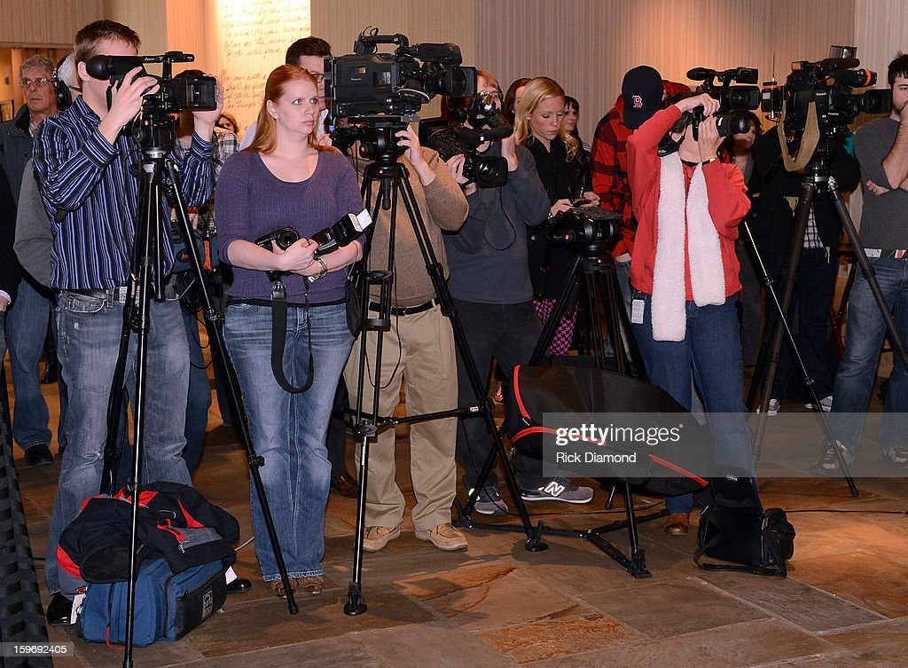 Press attend the 'Wanted' No 1 Party on January 17, 2013 in Nashville, Tennessee.