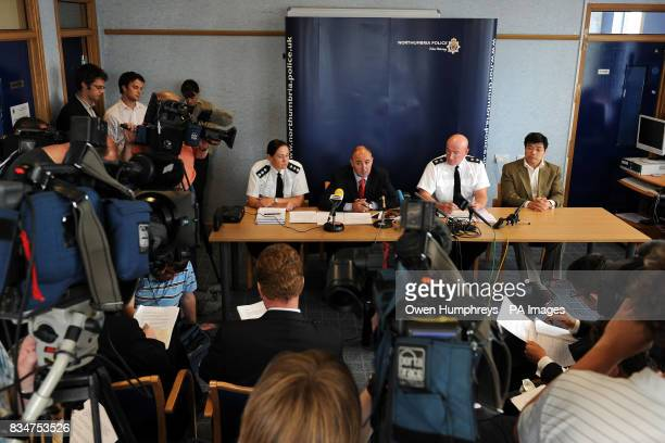 A press conference at Byker police station Newcastle regarding the two students 25yearolds Xi Zhou and her boyfriend Zhen Xing Yang who were Chinese...