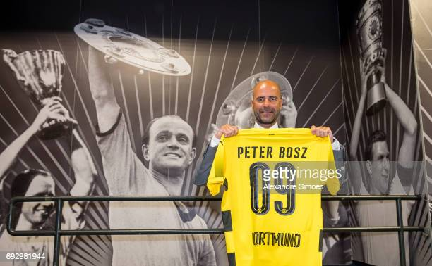 Press conference Borussia Dortmunds new head coach Peter Bosz at Signal Iduna Park on June 6 2017 in Dortmund Germany