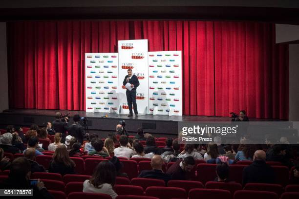 A press conference in Theater Eliseo after the cancellation of the promised funding of 4 million Euro by the Ministry Culture Theater director Luca...