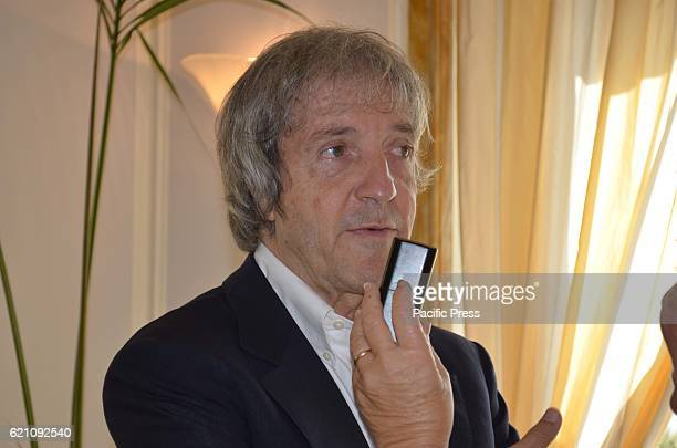 Press Conference of Don' t steal home of thieves new Italian comedy of the director Carlo Vanzina with Vincenzo Salemme and Manuela Arcuri at the...