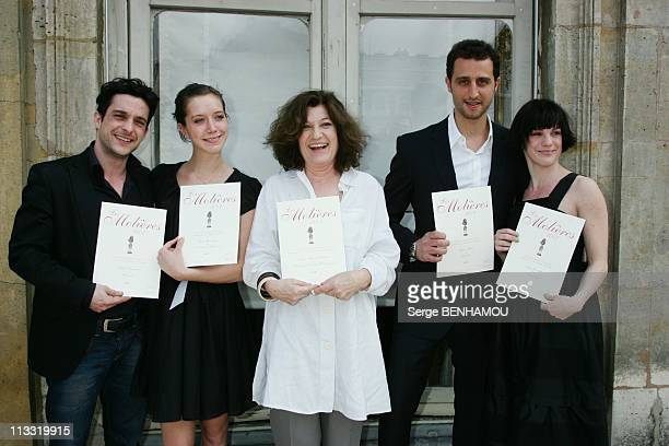 Press Conference Of 'Molieres' At Paris Theatre Followed By A Lunch At The Ministry Of Culture In Paris France On April 16 2007 Fabian Richard Sara...
